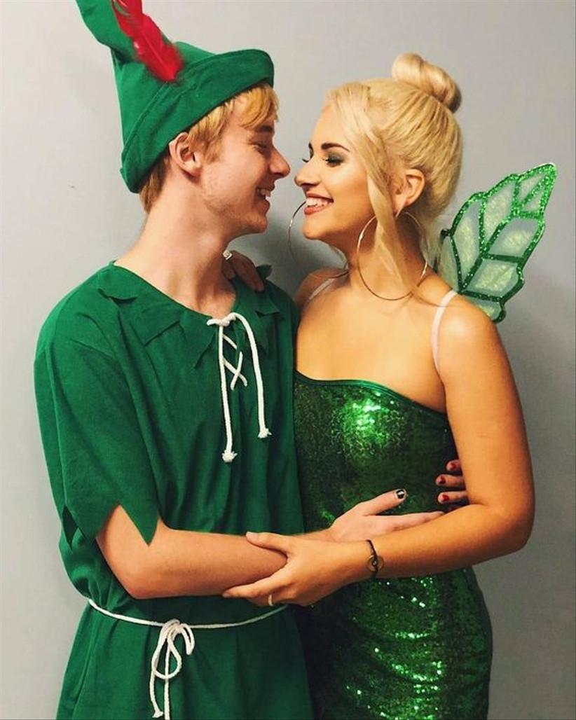 Couples Halloween Costume Tinkerbell & Peter Pan