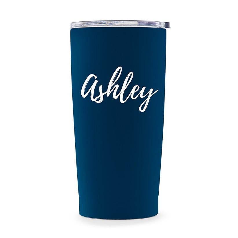 Personalised navy travel mug