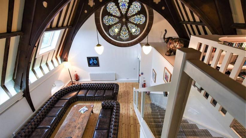 Living area in a church wedding venue
