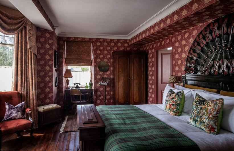 A bedroom at the Fife Arms