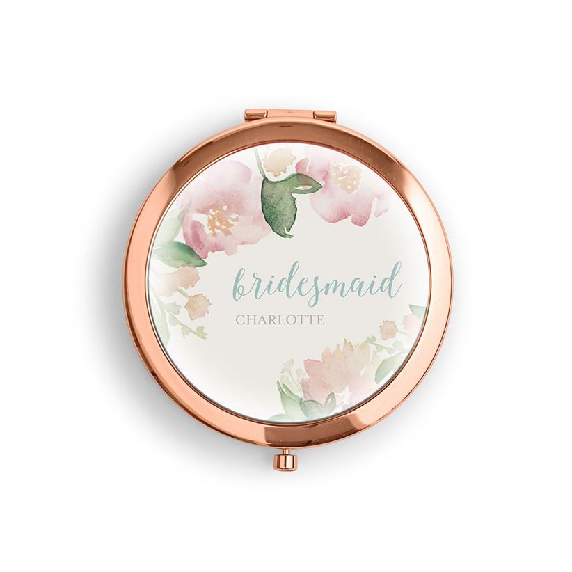 Персонализированное зеркало из розового золота