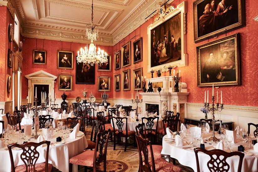 Grand wedding dining area