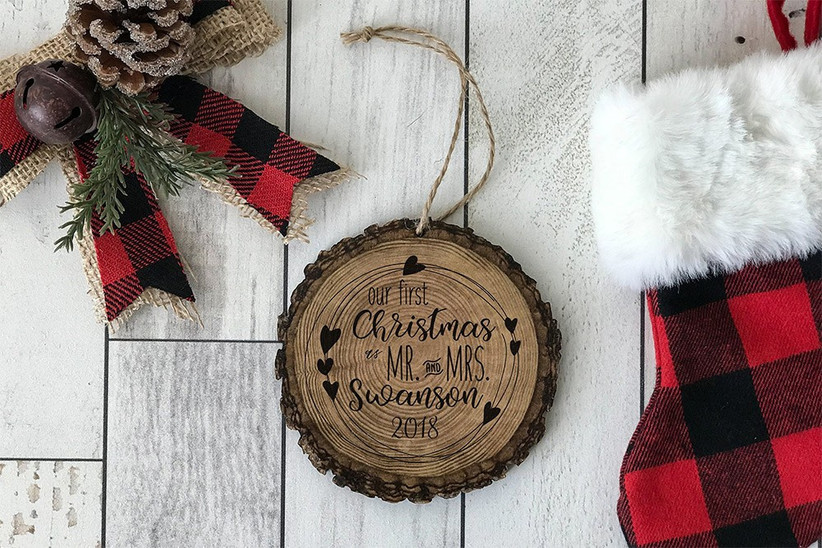 Rustic first married christmas