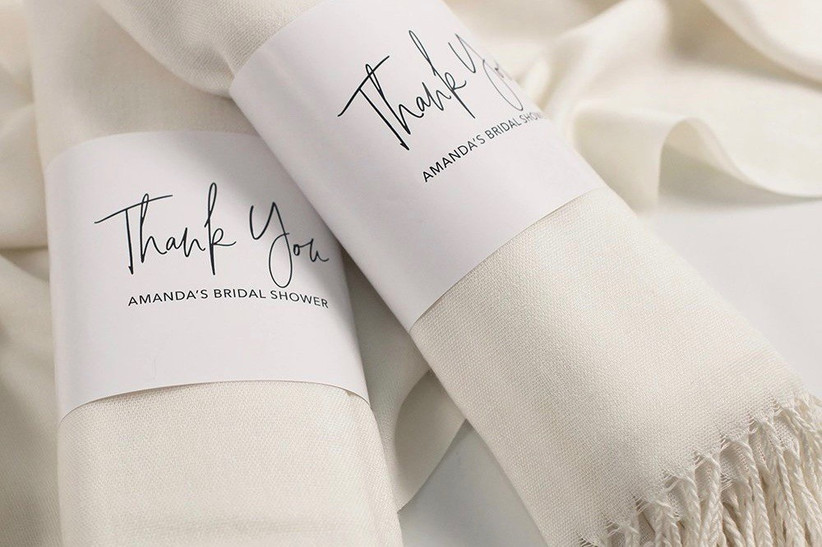 3. wedding thank you gifts Ivory Pashmina with Personalized Wrap - Bridal Party Thank You Gifts Custom Scarves Bridal Shower Favors Maid of Honor Gift - A-WS01IV-Etsy