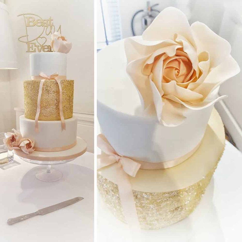 pink-and-gold-sparkly-cake