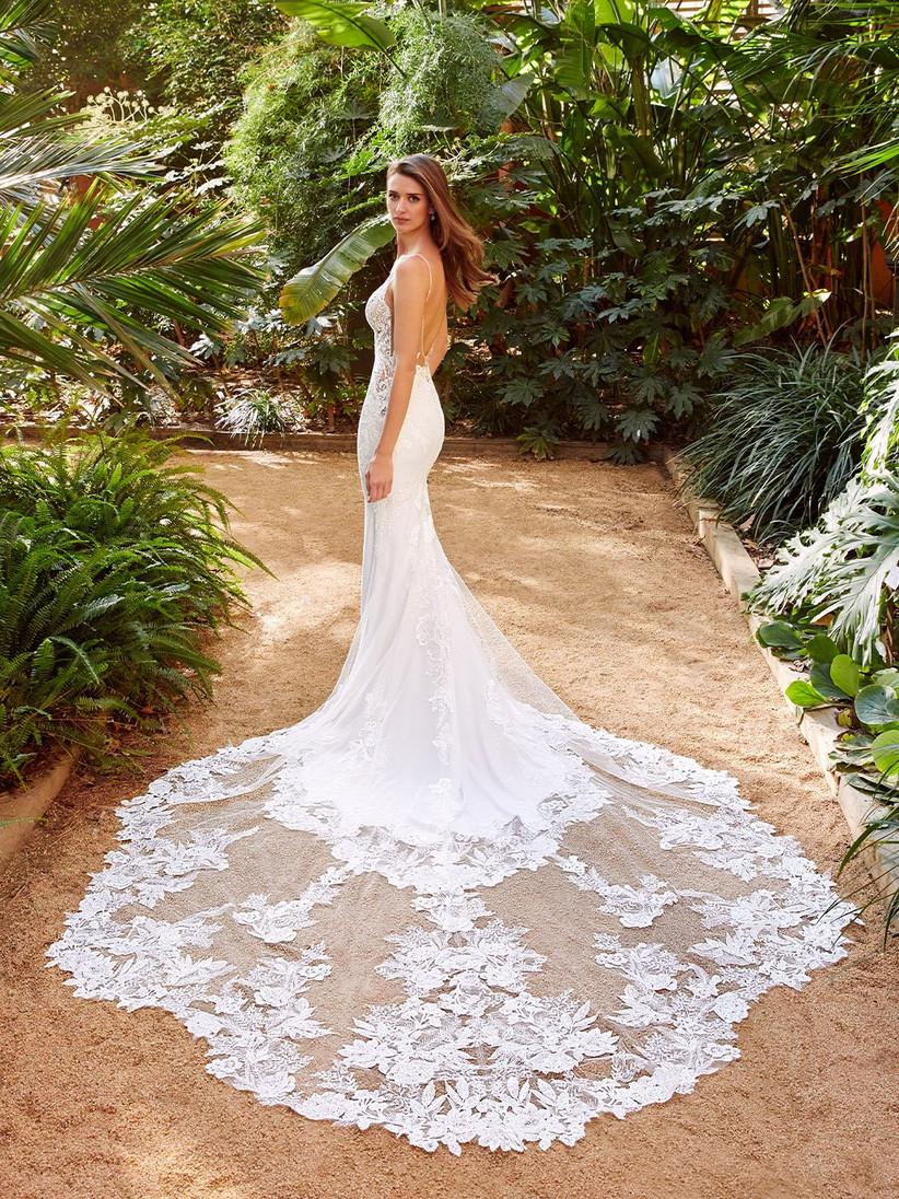 Enzoani Pallas wedding dress from the side