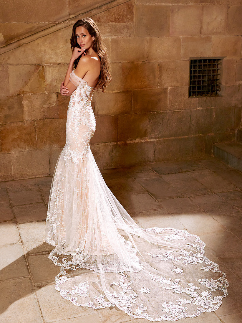 Etoile Evangline wedding dress from the back