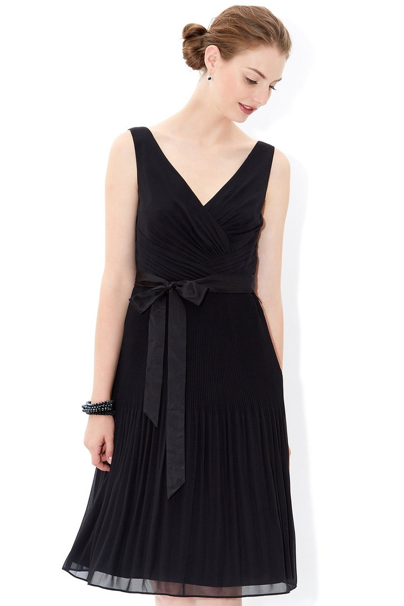Black bridesmaid dress from Monsoon