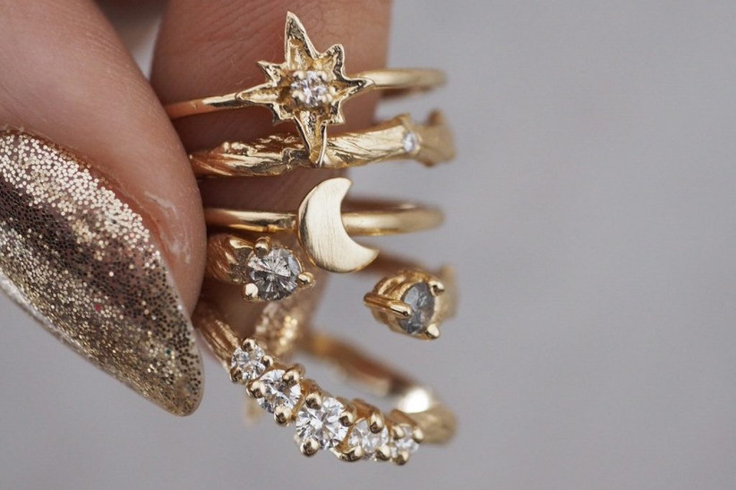 Stacking rings for wedding