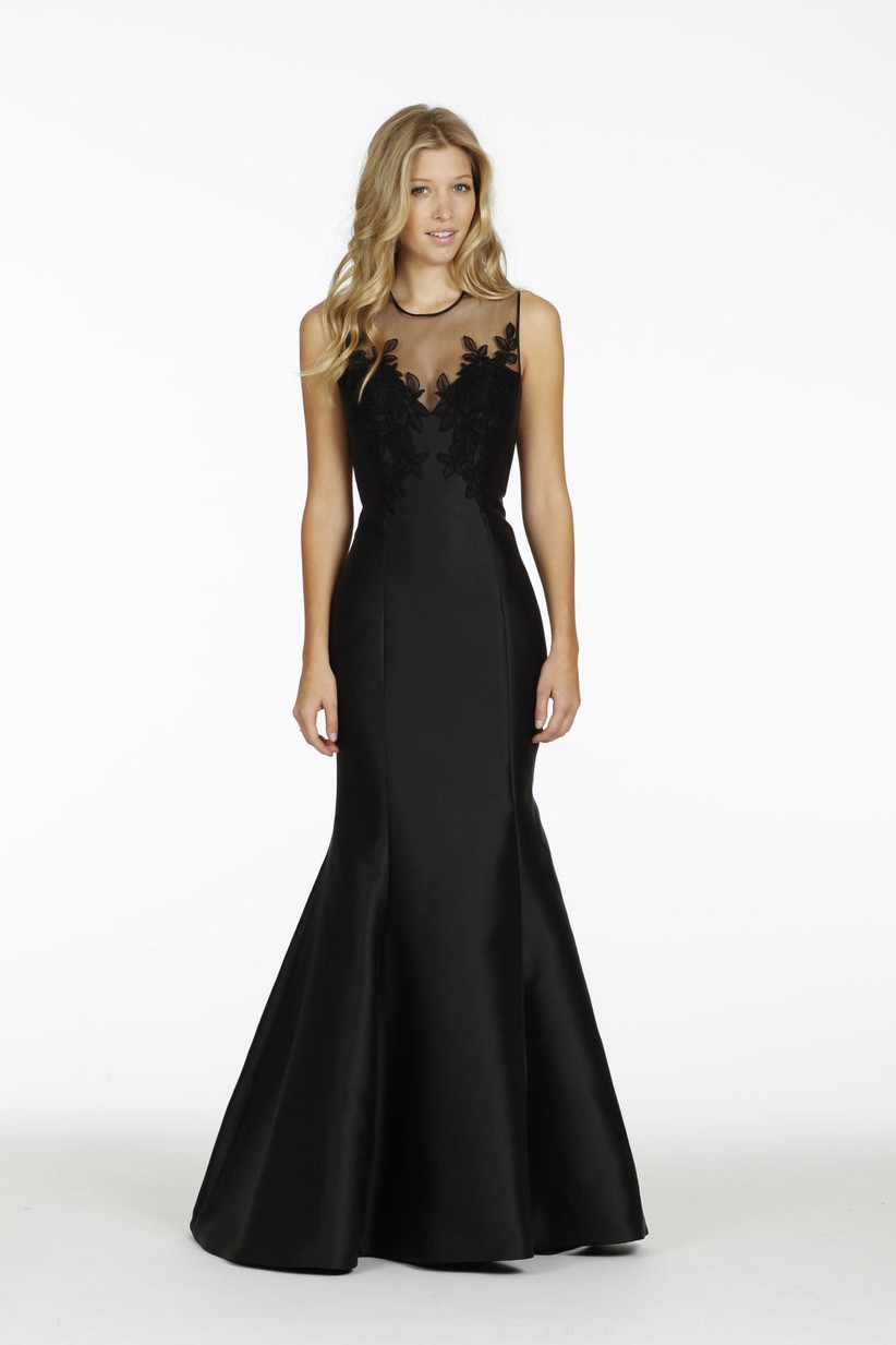 Formal black bridesmaid dress