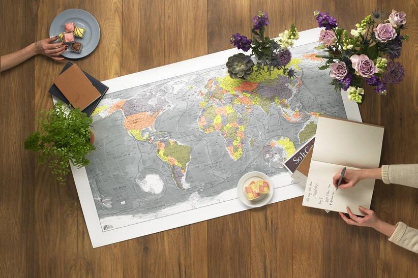 Map anniversary print
