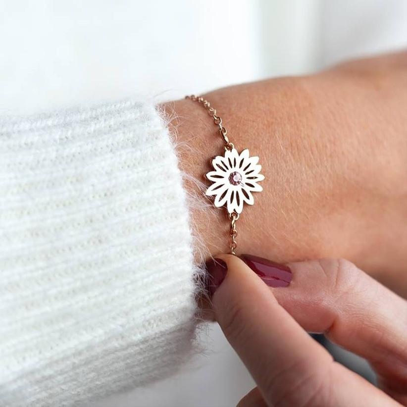 Personalised Birth Flower Bracelet