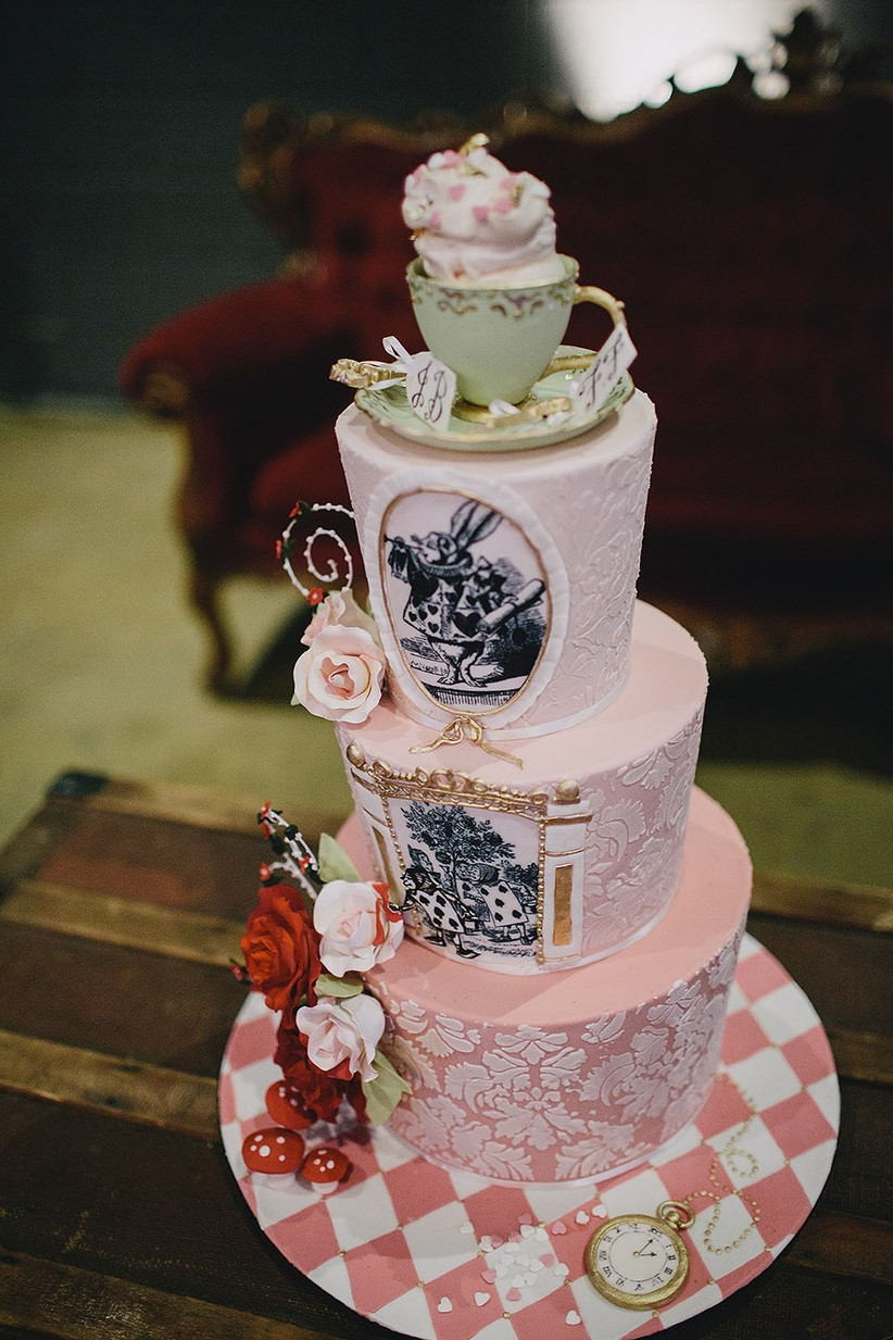 mad-hatters-tea-party-wedding cake