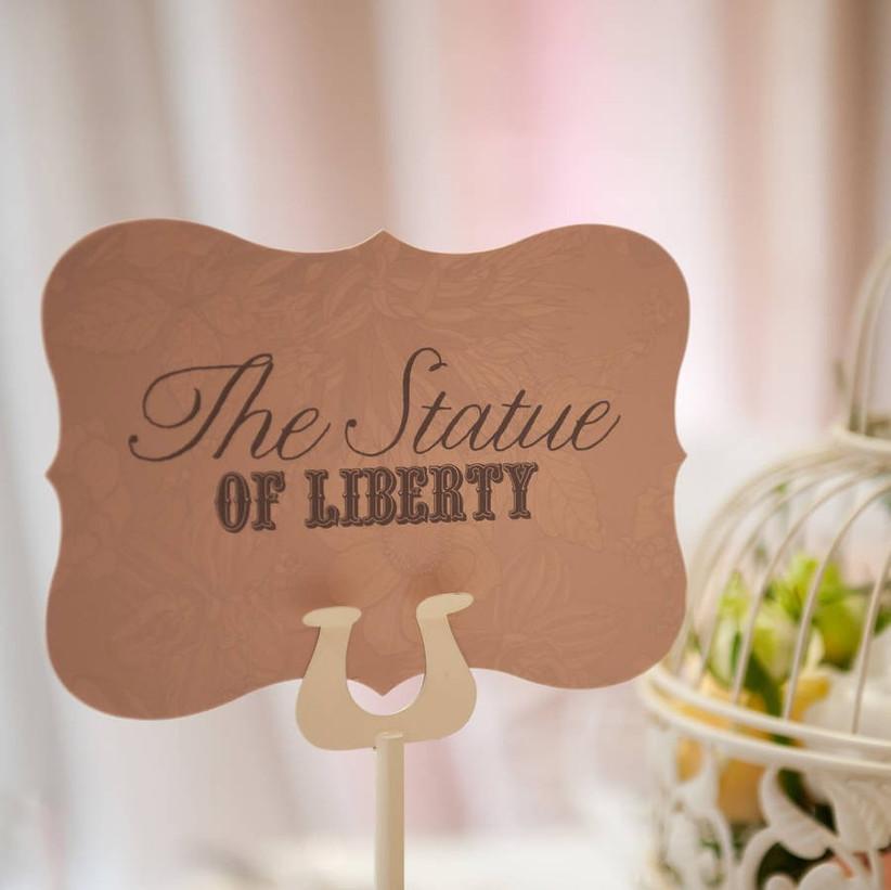 Wedding table name ideas