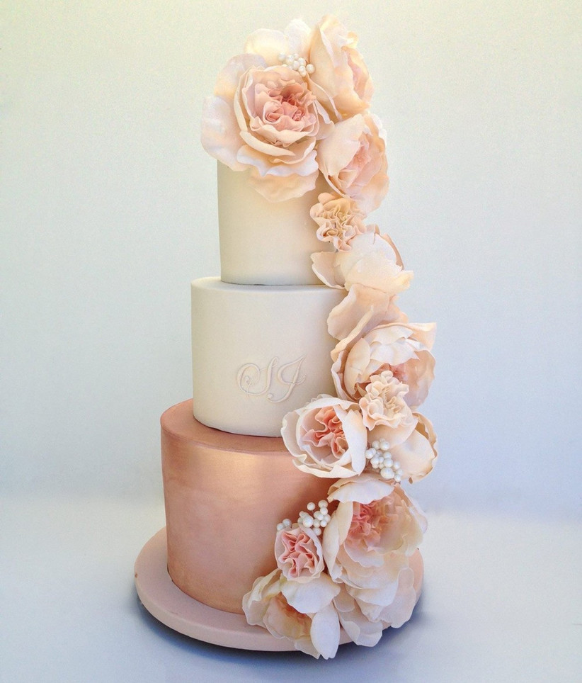 rose-gold-floral-wedding-cake