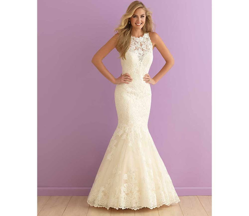 thick-lace-high-neck-fishtail-wedding-dress-by-allure-bridals