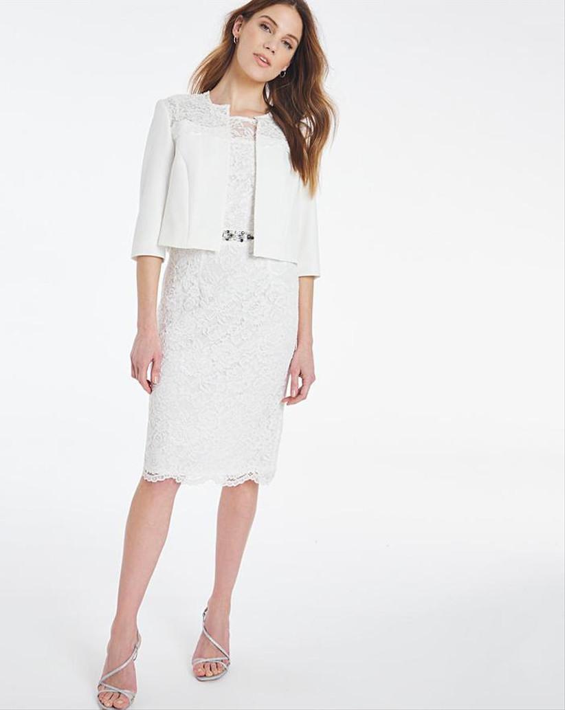White lace dress and jacket