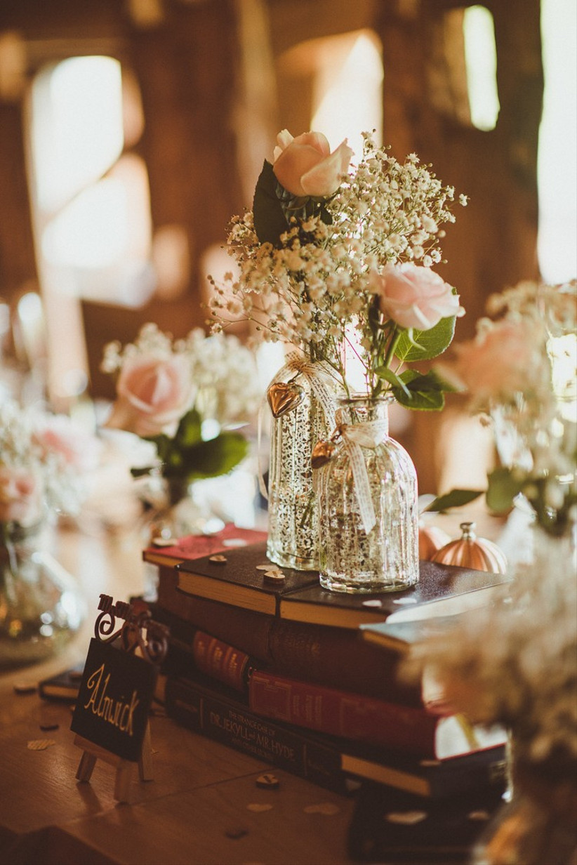 books wedding centrepiece