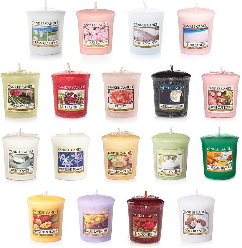 Assortment of mini yankee candles