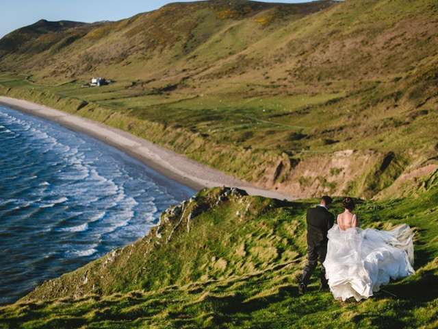 A Music-Filled Marquee Wedding at Oldwalls, Swansea with a Ronald Joyce Dress