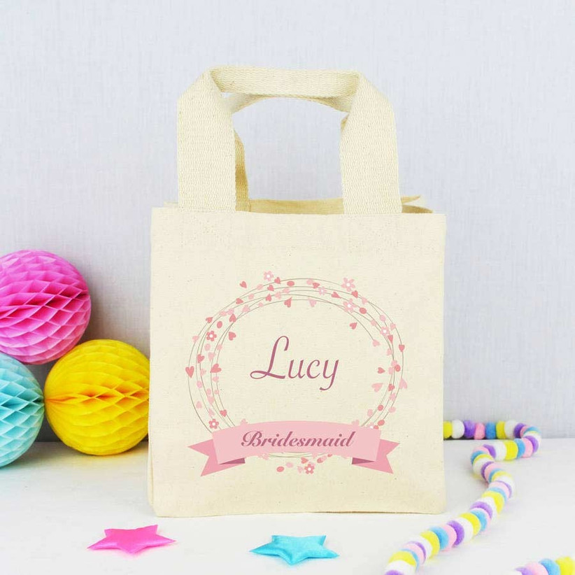 Personalised wedding Best Man cotton gift bag Lovely Best Man Thank you gift bag