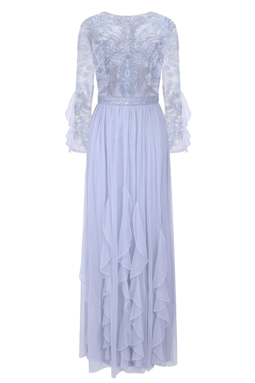 Frock and Frill Georgina Embellished Maxi with Ruffled Skirt