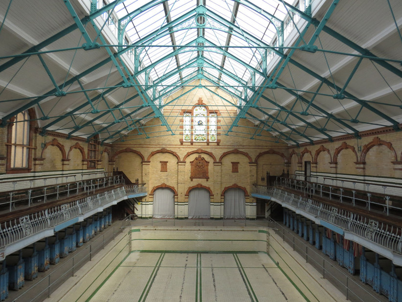 Pool at Victoria Baths wedding venue in Manchester