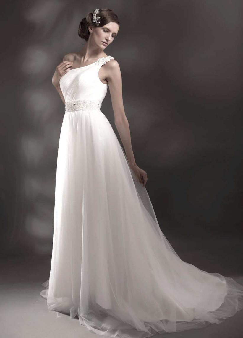 one-shoulder-grecian-wedding-dress