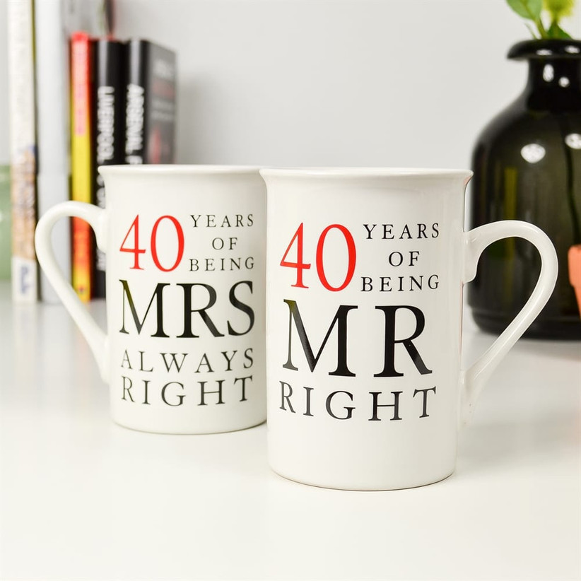 40th Wedding Anniversary Gift Ideas