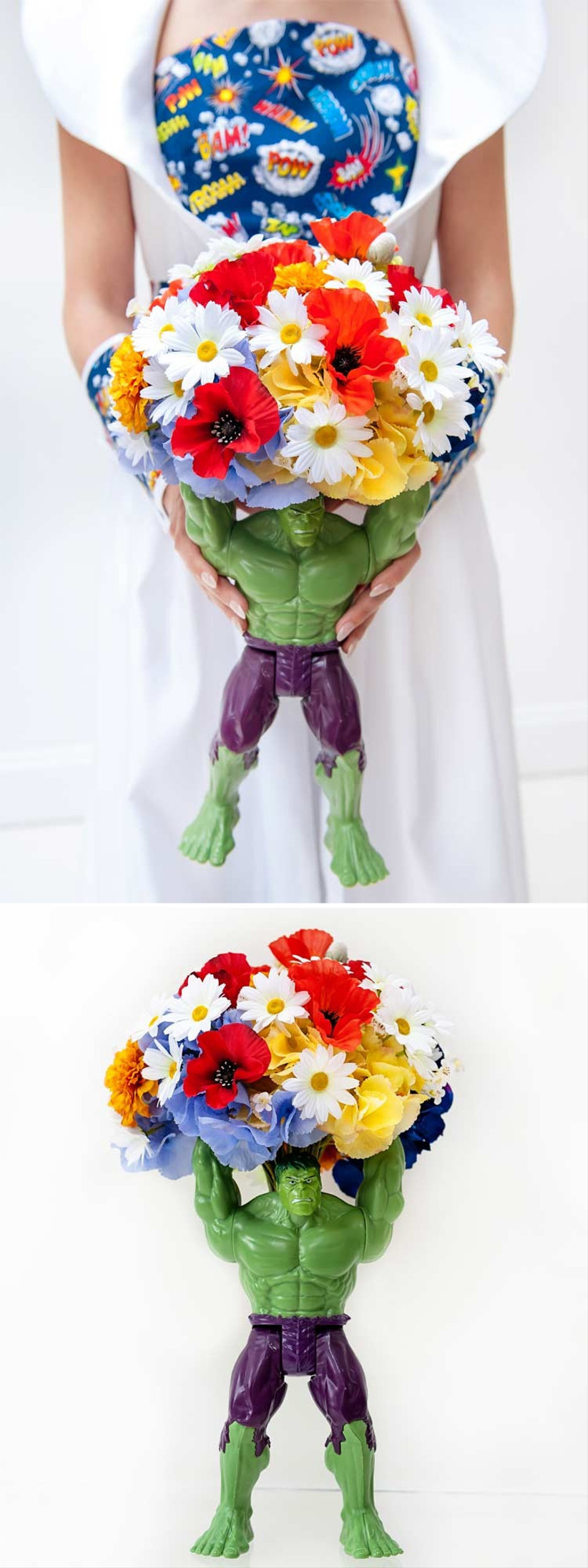 comic-book-themed-bridal-bouquet