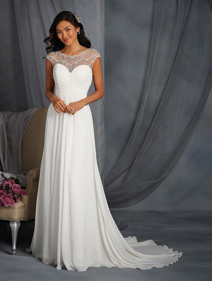 grecian-wedding-dress-with-illusion-neckline