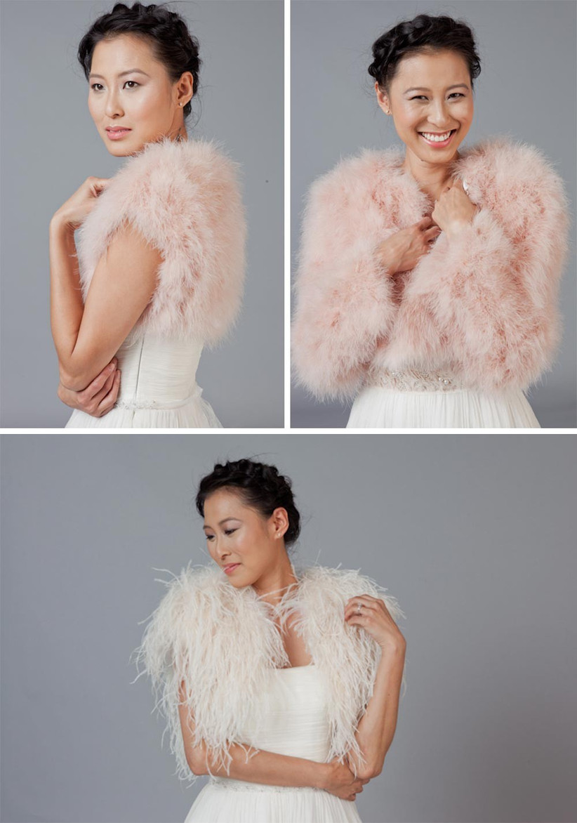 feathered-bridal-cover-ups-in-pink-and-white