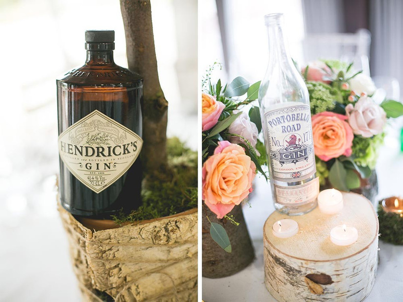 gin-themed-bottle-wedding-centrepieces