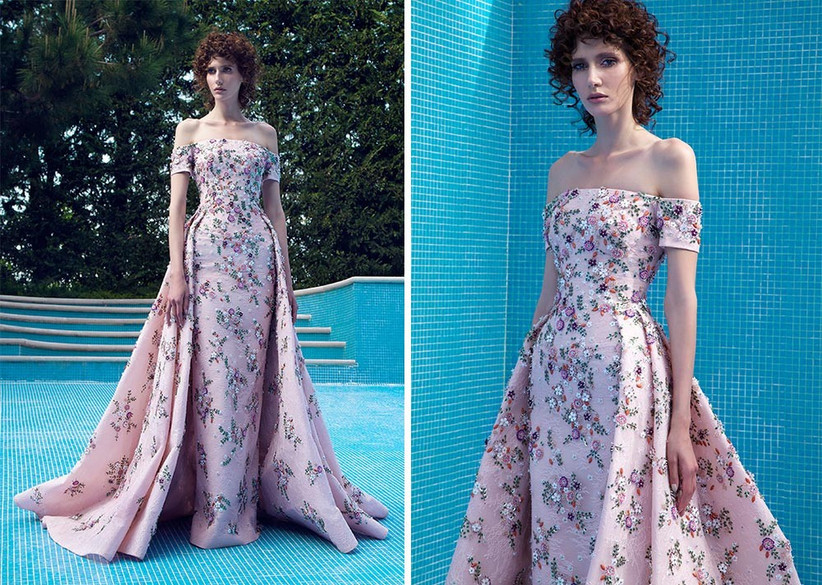 fitted-floral-gown