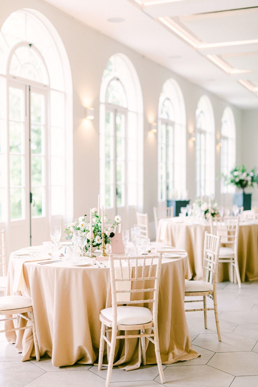 Wedding reception tables at Deer Park Country House