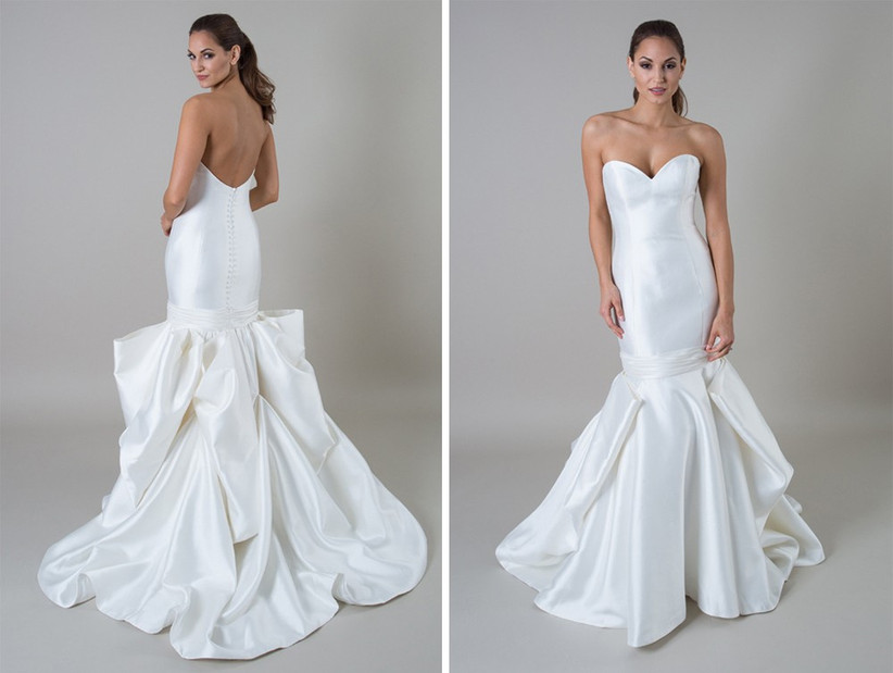 dramatic-ruffle-fish-tail-satin-dress