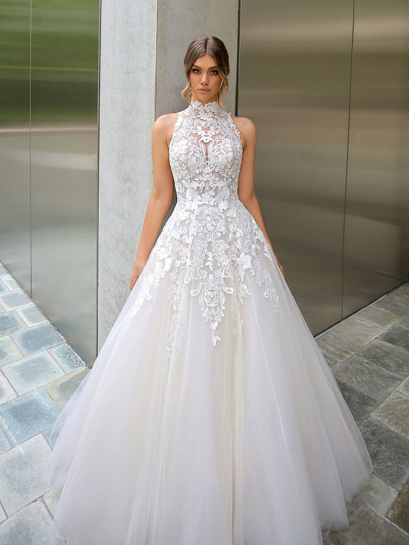 21 Best High Neck Wedding Dresses For 2020 2021 Hitched Co Uk