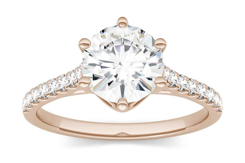 Forever One Moissanite Solitaire Ring
