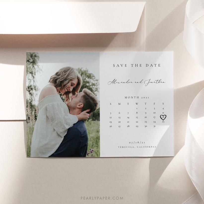 Calendar save the date