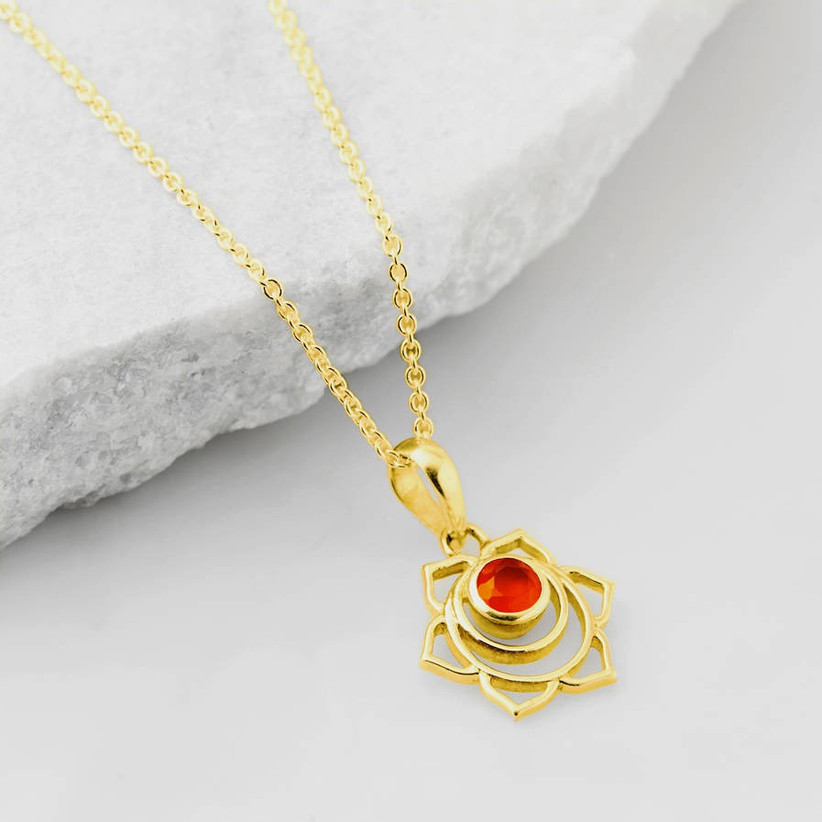wedding anniversary stones- carnelian pendant