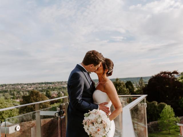 A Fun, Glamorous Castle Wedding on a Sunny Spring Day in Farnham, Surrey