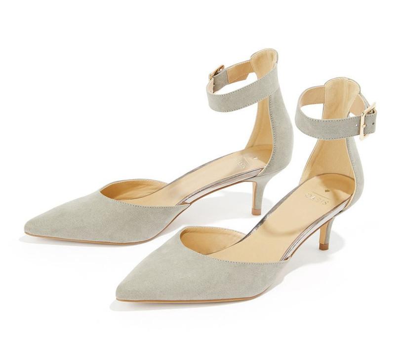 Low heel bridesmaid shoe