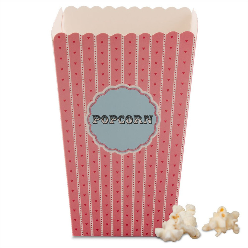 Pink heart popcorn boxes