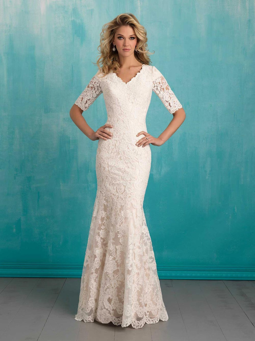 lace-wedding-dress-with-three-quarter-sleeves