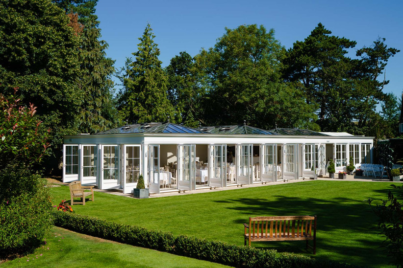 The Orangery at outdoor wedding venue Hayne House