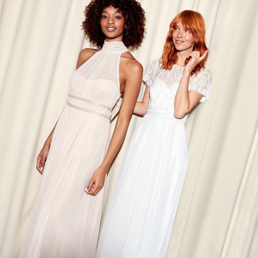 Olive Bridal Embellished Tulle Maxi Dress