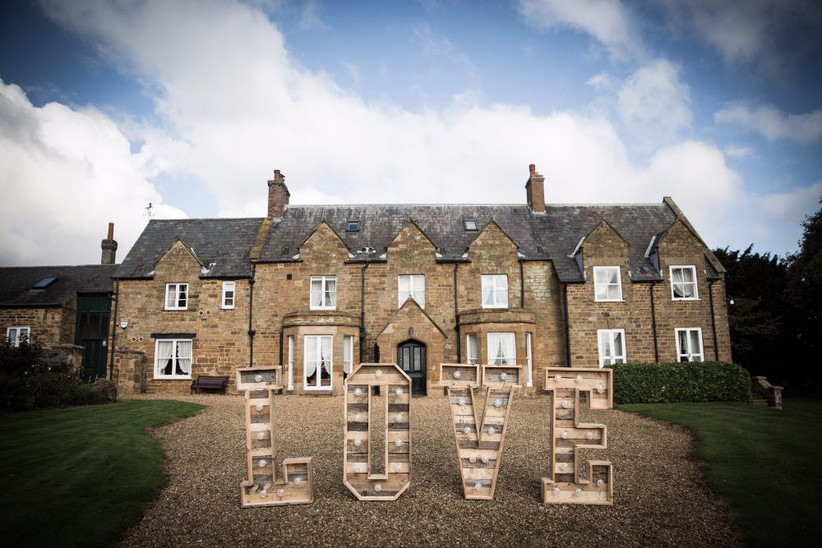 Exterior of Northamptonshire wedding venue Brampton Grange Estates