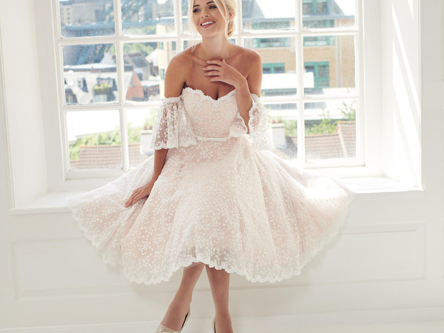 30 Of The Best Tea Length Wedding Dresses Hitched Co Uk