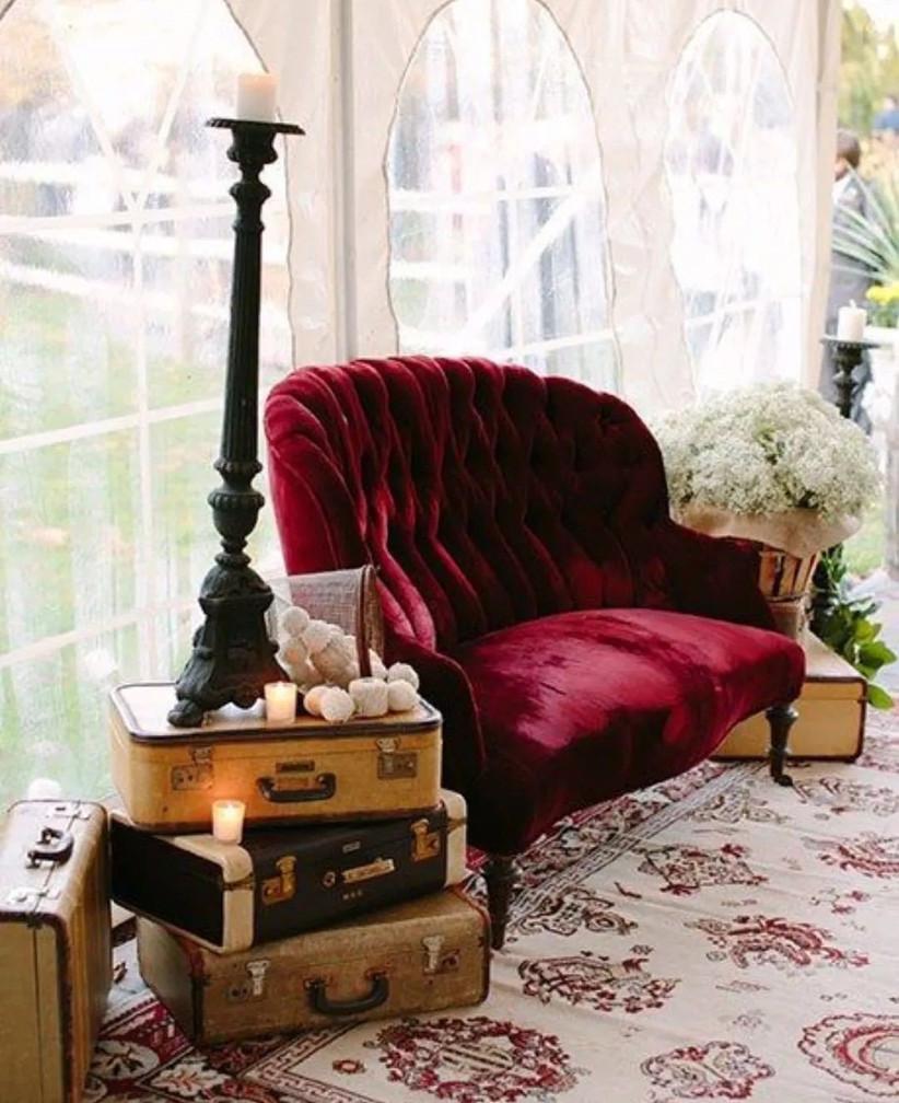 velvet lounge area