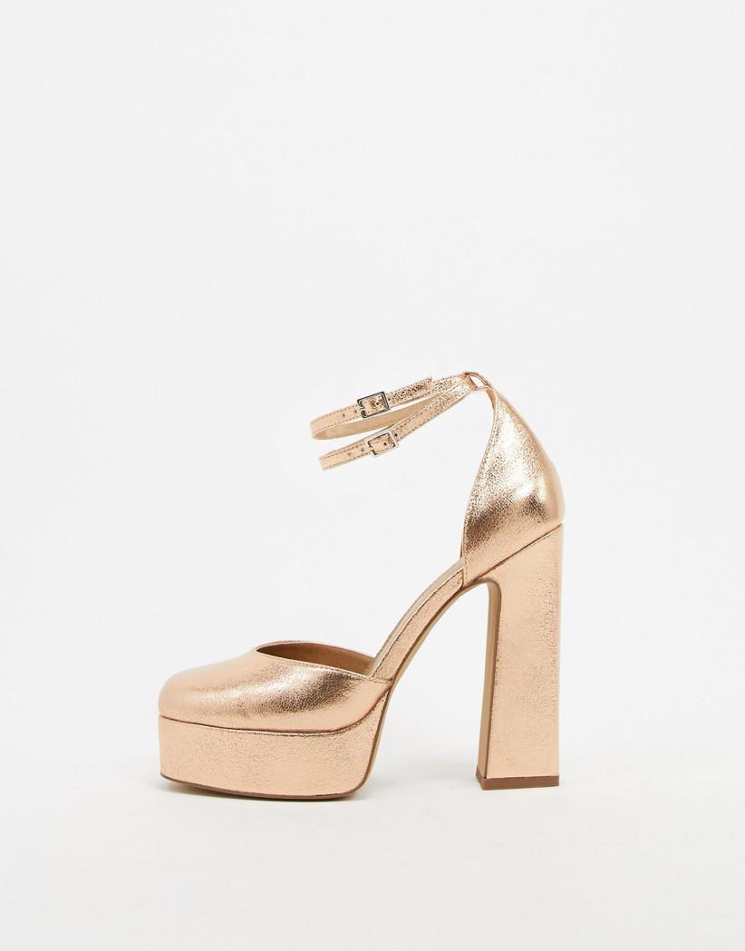 Women Ladies Platform High Block Heels Bridesmaid Wedding Work Shoes Wedge Pumps